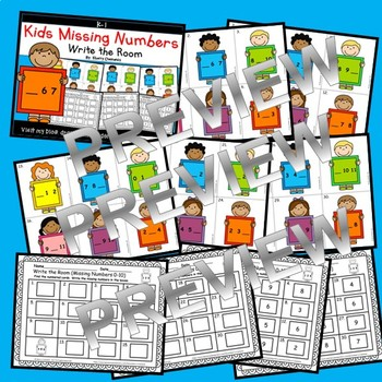 Kids Write the Room (Missing Numbers 0-10) (Set 3)