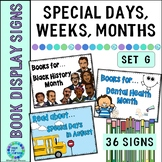 Library Book Display Signs | Special Days, Weeks, Months