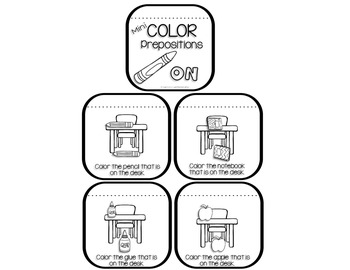 mini coloring books for prepositions back to school edition - Mini Coloring Books