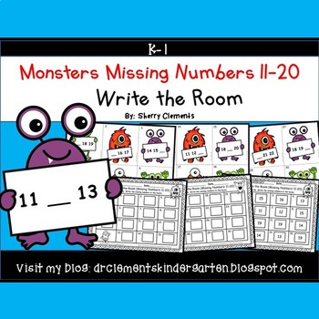 Monsters Write the Room (Missing Numbers 11-20)