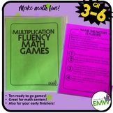 Multiplication Math Games Great for Fluency