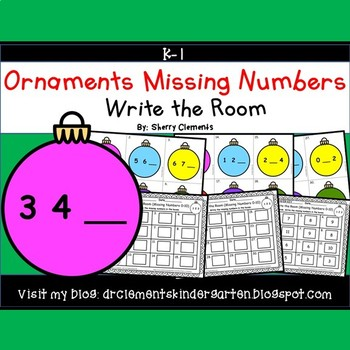 Ornaments Write the Room (Missing Numbers 0-10)