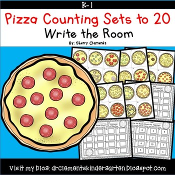 Pizza Write the Room Counting Sets 1-20