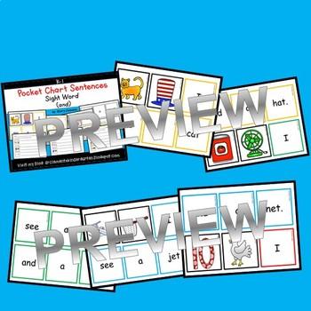Pocket Chart Sentences Sight Words (and)