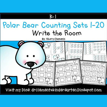 Polar Bear Write the Room (Counting Sets 1-20)