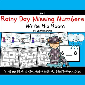 Rainy Day Write the Room (Missing Numbers 0-10)