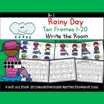 Rainy Day Write the Room (Ten Frames 1-20)