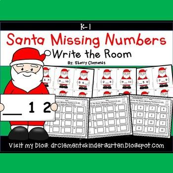 Santa Write the Room (Missing Numbers 0-10)