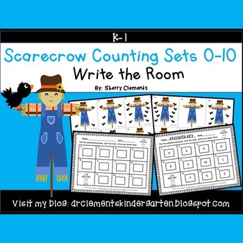 Scarecrow Write the Room (Counting Sets 0-10)