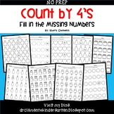 Skip Counting by 4's Fill in the Missing Numbers