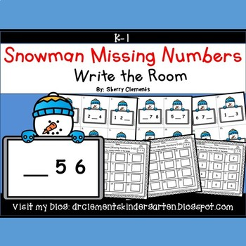 Snowman Write the Room (Missing Numbers 0-10) (Set 2)
