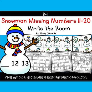 Snowman Write the Room (Missing Numbers 11-20)