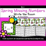 Spring Write the Room (Missing Numbers 0-10)