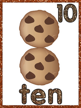 Subitized Chocolate Chip Cookie Wall Cards - v2