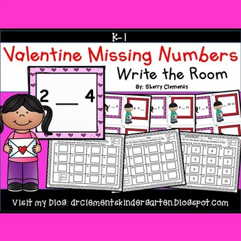 Valentine Write the Room (Missing Numbers 0-10)