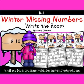 Winter Write the Room (Missing Numbers 0-10)