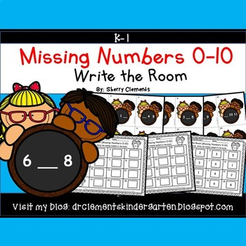 Write the Room (Missing Numbers 0-10) (Set 4)