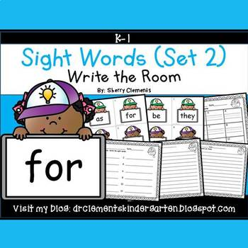 Write the Room (Sight Words) (Set 2)