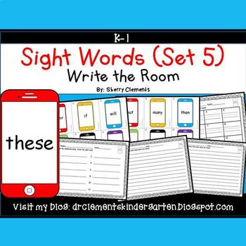 Write the Room (Sight Words) (Set 5)