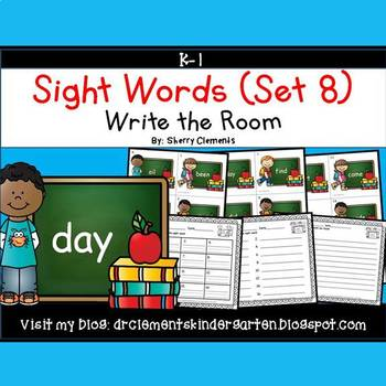 Write the Room (Sight Words) (Set 8)