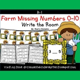 Farm Write the Room (Missing Numbers 0-10) (Set 2)