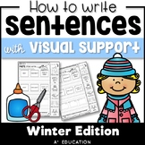 Sentence Writing and Cut and Paste Sentence Structure Winter