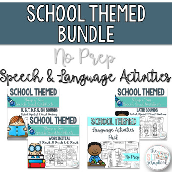 Back to School- School Themed Speech and Language Therapy Bundle- No Prep
