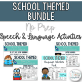 Back to School- School Themed Speech and Language Therapy