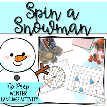 Snowman Language Activity for Speech therapy- No Prep!