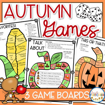 Autumn Board Games (Team Building and Getting to Know You)