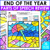 Summer Activity Color By Code Parts of Speech