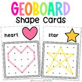 Geoboard Shape Mats   Preschool & Kindergarten Math Center Activity Cards