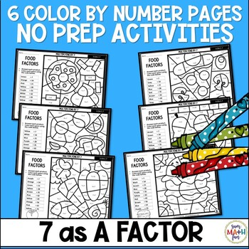 Multiplication Color by Number - Using 7 as a Factor
