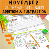 Addition and Subtraction Word Problems for November - Spin