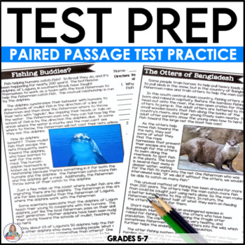 Test Prep Reading Passages and Writing Practice
