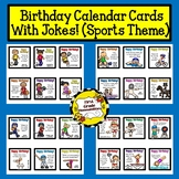 Birthday Calendar Cards with Jokes (Sports Theme)