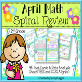 April Math Spiral Review Task Cards