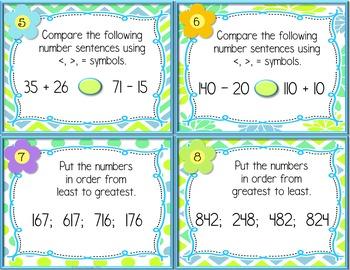 April Math Spiral Review Task Cards