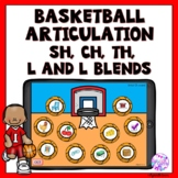Boom Cards Basketball Articulation Game for Sh, Ch, Th, L