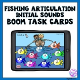 Boom Cards Articulation Initial Sounds Fishing Activity
