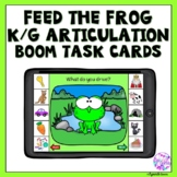 Boom Cards Articulation K and G for Distance Learning