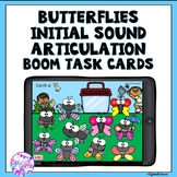 Boom Cards Initial Articulation Sounds Butterfly theme
