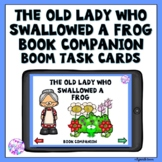 Boom Cards Old Lady Who Swallowed a Frog Book Companion