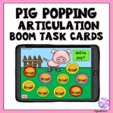 Articulation Boom Cards Pig Popping Activity