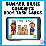 Boom Cards Summer Basic Concepts for Distance Learning