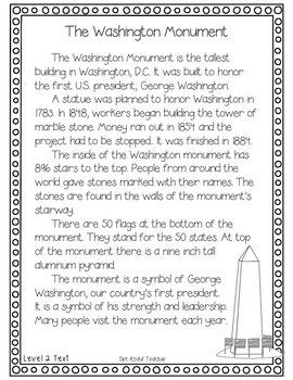American Symbols: The Washington Monument ~ Close Reading on iPads