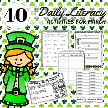 Reading, Writing, Word Work Station Activities for March