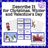 Descriptive Language Skills for Christmas, Winter and Valentine's Day