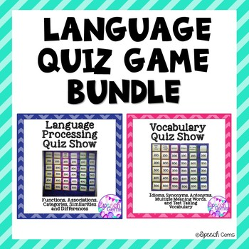 language quiz game bundle by speech gems teachers pay teachers