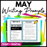 May Writing Prompts and Journal - Distance Learning